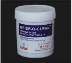 Torrel Germ-O-Clean - 50 Instrument Disinfectant Tablets Sodium Dichloro