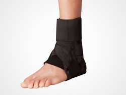 Ankle Brace with Strap - Black