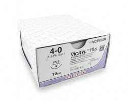 Ethicon Vicryl Plus Sutures USP 1, 1/2 Circle Round Body (Heavy) VP2347