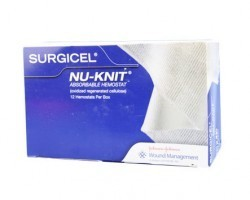 Ethicon Biosurgery Surgicel Nu-Knit Absorbable Hemostat