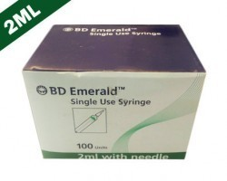 Becton Dickinson (BD) Emerald Syringe With Needle - 2ml