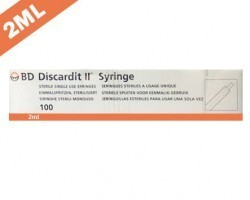 Becton Dickinson (BD) Discardit II Syringe with Needle 2ml