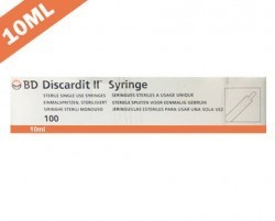 Becton Dickinson (BD) Discardit II Syringe with Needle 10ml