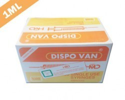 Dispo Van Syringe with Needle - 1ml Tuberculin