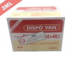 Dispo Van Syringe with Needle - 3ml