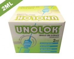 Hindustan Syringes Unolok Syringe with Needle 2ml