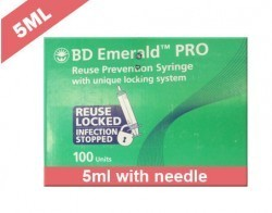 Becton Dickinson (BD) Emerald Pro Syringe With Needle 5ml