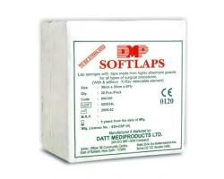 Datt Softlaps Sterile Lap Sponge with X Ray Line - 5s