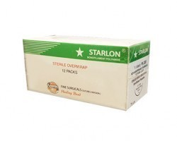Fine Surgicals Starlon Sutures USP 0, 1/2 Circle Round Body