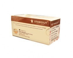 Stargut Chromic Catgut Sutures USP 0, 1/2 Circle Round Body Double Armed