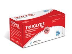 Sutures India Truglyde Fast USP 3-0, 3/8 Circle Reverse Cutting