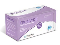 Sutures India Truglyde USP 2-0, 3/8 Circle Reverse Cutting
