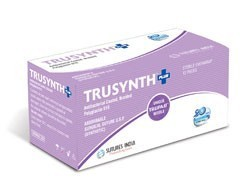 Sutures India Trusynth Plus USP 1, 1/2 Circle Reverse Cutting