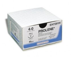 Prolene Sutures USP 7-0, 3/8 Circle Round Body Ethalloy Double - W8304