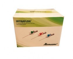 Romsons Intraflon Paediatric IV Cannula with Injection Port