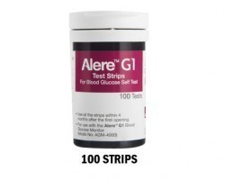 Alere G1 Blood Glucose Testing Strips - Pack of 100s