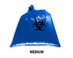 Bellcross Biomedical Waste Collection Bags - Blue (Medium)