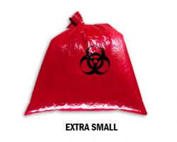 Bellcross Biomedical Waste Collection Bags - Red (Extra Small)