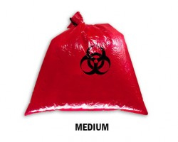 Bellcross Biomedical Waste Collection Bags - Red (Medium)