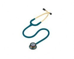 3M Littmann Classic III Stethoscope - Caribbean Blue with Rainbow Finish