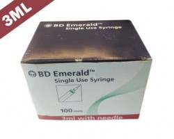 Becton Dickinson (BD) Emerald Syringe With Needle - 3 ml