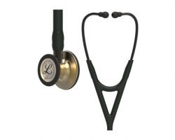 3M Littmann Cardiology IV Stethoscope - Black with Brass Finish 6164