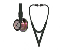 3M Littmann Cardiology IV Stethoscope - Black with Rainbow Finish 6165