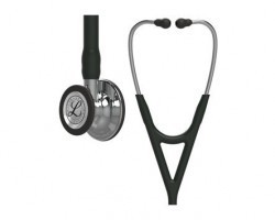 3M Littmann Cardiology IV Stethoscope - Black with Mirror Finish 6177