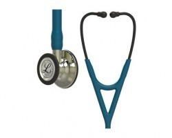3M Littmann Cardiology IV Stethoscope Caribbean Blue with Champagne Finish 6190