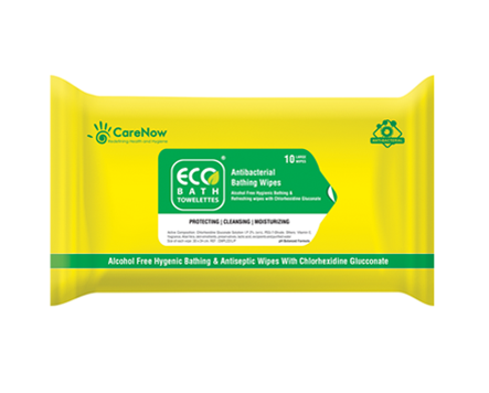 CareNow Eco Bath CHG Bath Wipes - Peel Off Pack