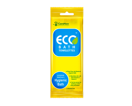 CareNow Eco Bath CHG Bath Wipes - Singles