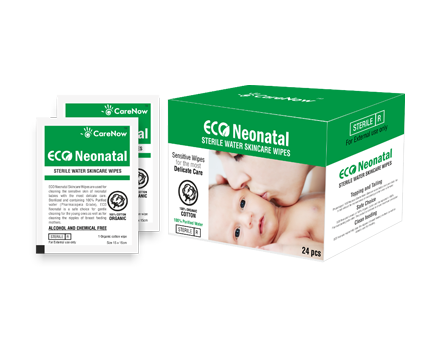CareNow Eco Neonatal Baby Sterile Wipes