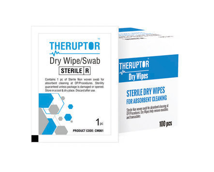 CareNow Theruptor Sterile Dry Wipes