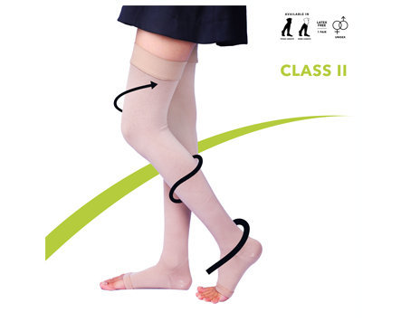 Sorgen Classique Class 2 Thigh Length Compression Stockings - Large