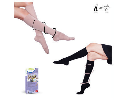 Sorgen Everyday Support Beige Socks - Large