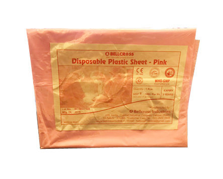 Bellcross Disposable Plastic Bed Sheets  - Pink