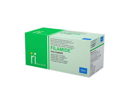 Meril Filamide Nylon Pre-Cut Sutures USP 0, 2 X 76 cm