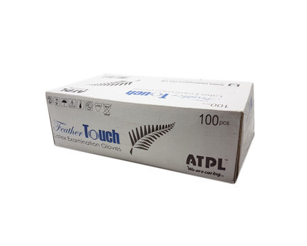 ATPL Feather Touch Non Sterile Powdered Examination Gloves - Small