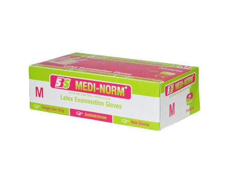 Medi-Norm Non Sterile Powdered Latex Examination Gloves - Extra Small