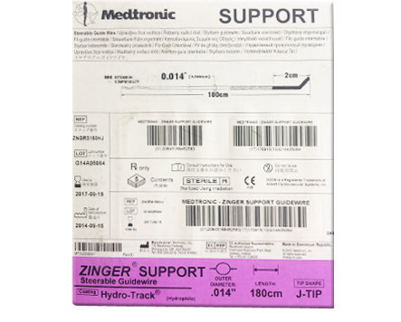 Medtronic Zinger Support PTCA (Steerable) Guide Wire