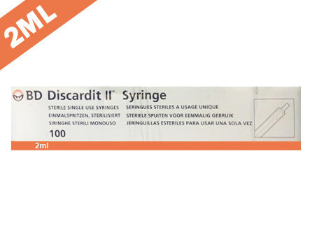BD Discardit II Syringe with Needle - 2ml