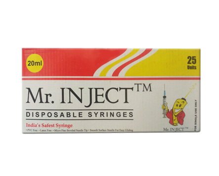 Biomed Mr. Inject Syringe with Needle 20ml