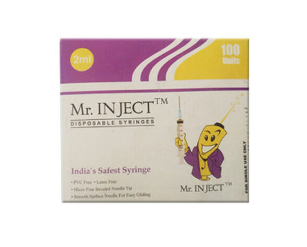 Biomed Mr. Inject Syringe with Needle 2ml