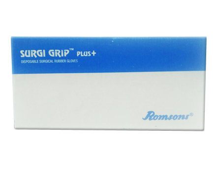 Surgi Grip Sterile Latex Powdered Surgical Gloves Size 6