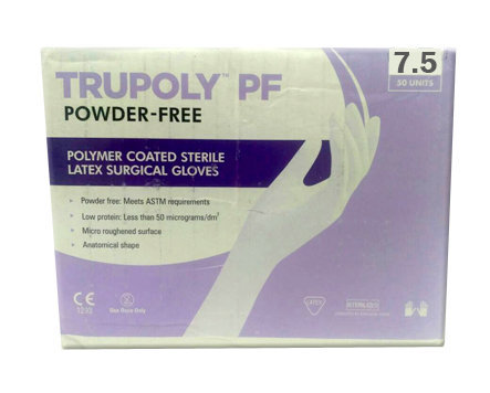 Sutures India Trupoly PF Sterile Powder Free Surgical Gloves – Size 7.5