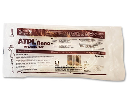 ATPL Nano Non Vented Tube Latex IV Set