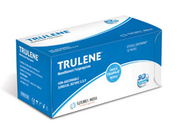 Sutures India Trulene USP 3-0, 2 X 1/2 Circle Taper Point