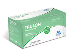 Sutures India Trulon USP 5-0, 3/8 Circle Cutting