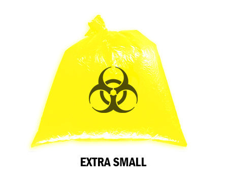 Bellcross Biomedical Waste Collection Bags - Yellow (Extra Small)