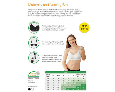 6a783a9abb1 Buy Medela Maternity   Nursing Bra - Black at best price online in ...